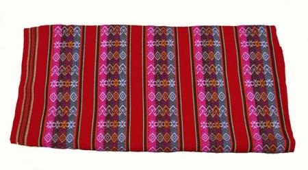 Bunte Decke Rot- Lliklla - Aguayo