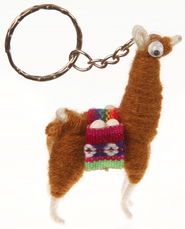 Key Ring: Llama Brown