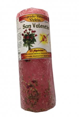 San Valentin Kräuterkerze