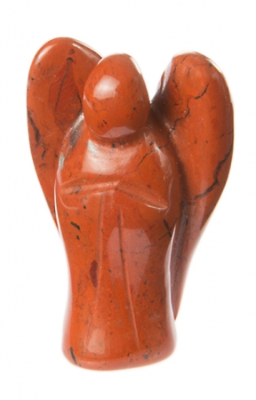 Edelstein Engel Jaspis Rot 35 mm