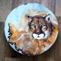 Schamanen Trommel Puma