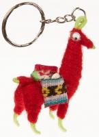 Schlüsselanhänger: Llama Rot