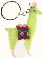Schlüßelanhänger: Llama Grün