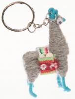 Schlüßelanhänger: Llama Grau