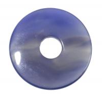 Pi-Stein Donut Blaue Achat 3cm