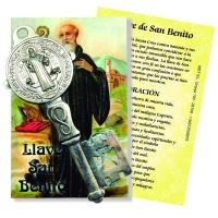 Sankt Benito Bilddruck u. Schlüssel